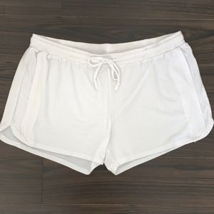 White Lounge Shorts Size XL